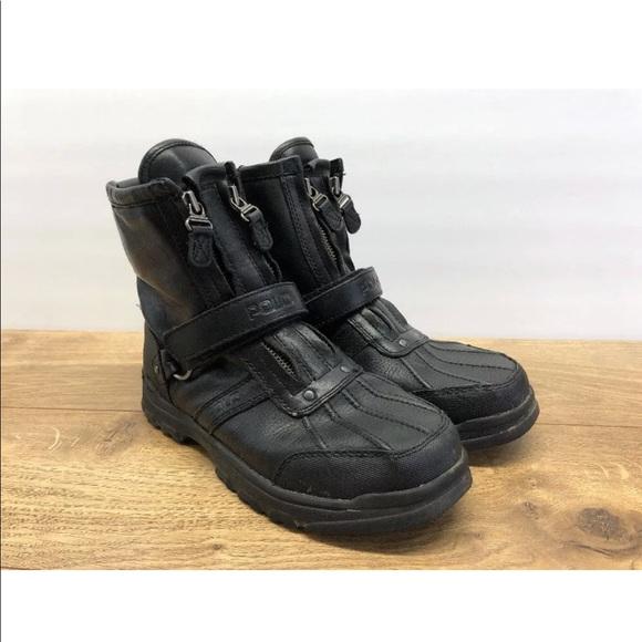 B7 Ralph Lauren Boots 38 Polo Sz Zip Conquest tQrxsChd